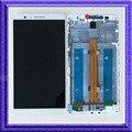 Белый ЖК-Дисплей С Сенсорным Экраном Digitizer Стекло Ассамблеи + Рамка Для Huawei Ascend Mate 7
