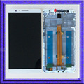 White LCD Display Touch Screen Digitizer Glass Assembly + Frame For Huawei Ascend Mate 7