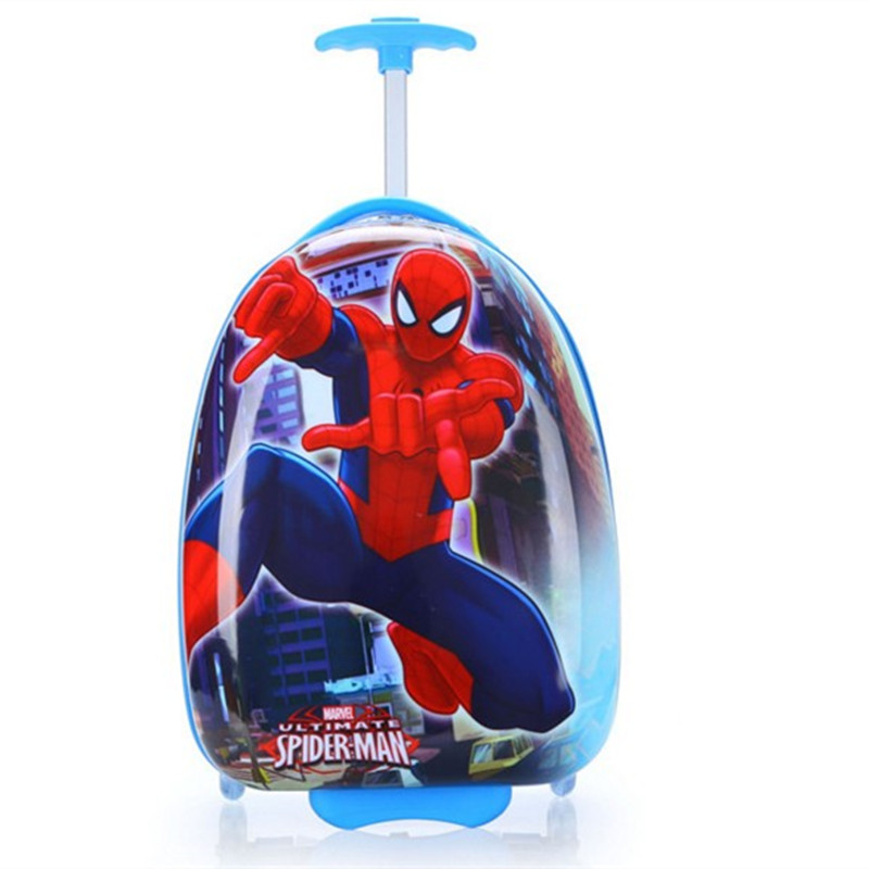 Fashion Boys Girl School Bag Trolley Travel bags Cartoon Suitcase ABS+PC luggage With Wheel Children Anime Waterproof Schoolbag abs pc brand children