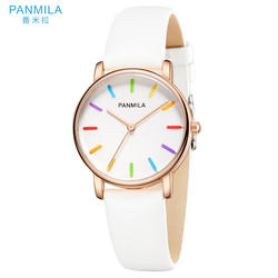 PANMILA Простые Модные женские часы Hodinky женские кварцевые часы водостойкий PU ремешок повседневные часы женские часы-браслет P0202