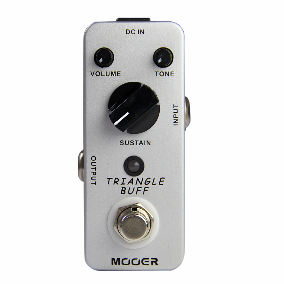 Mooer Full Metal Shell Effects Micro Triangle Buff Legendary Fuzz Tone Electric Guitar Effect Pedal mooer triangle buff guitar effect pedal true bypass electric mini effects with free connector and footswitch topper