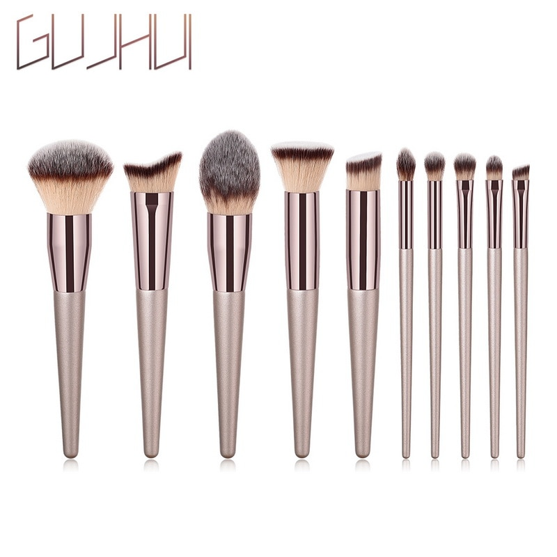 GUJHUI 1pcs Makeup Brushes Women Cosmetics Tool Professional Powder Foundation Eyeshadow Lips Makeup High Quality Hair Brushes