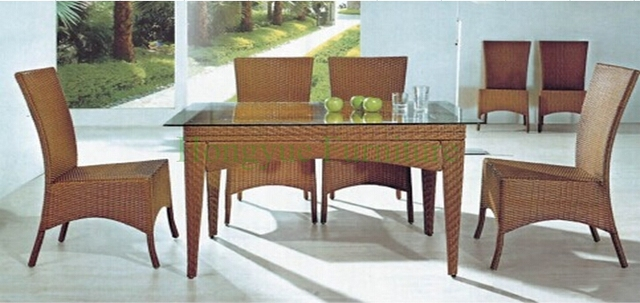 Outdoor Garden Rattan Table Chair Sets Furniture Sale