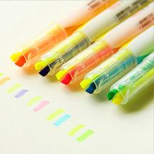 1x LovelyDouble head fluorescent pen marking canetas Learn office learning Kawaii Graffiti fluorescent pens DIY decoration pen