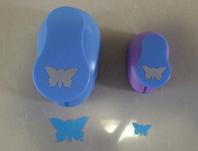 2pcs(5.0cm,2.5cm) butterfly shape craft punch set Punch Craft Scrapbooking school Paper Puncher eva hole punch free shipping электрическая тепловая пушка inforce eh 5 t
