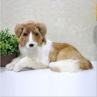 WYZHY  Simulation dog animal model shepherd decoration home gift fur 50CMx26CM