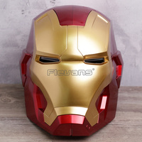 Iron Man Motorcycle Helmet Cosplay Mask for Adult Touch Sensing Mask with LED Light Super Hero Series Doll 1:1 2 Colors