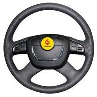 Braid on the Steering Wheel Cover for Skoda Octavia a5 Superb 2012 2013 Fabia 2010 2014 funda volante Tampa do volante do carro
