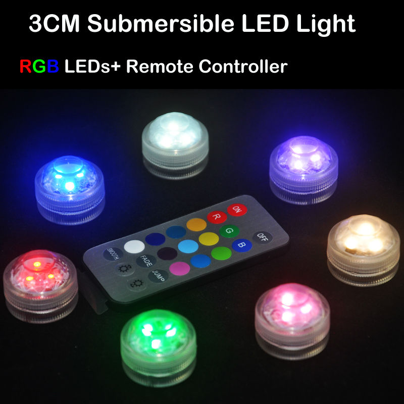Wholesale 20pcslot Remote Control Waterproof Submersible Led