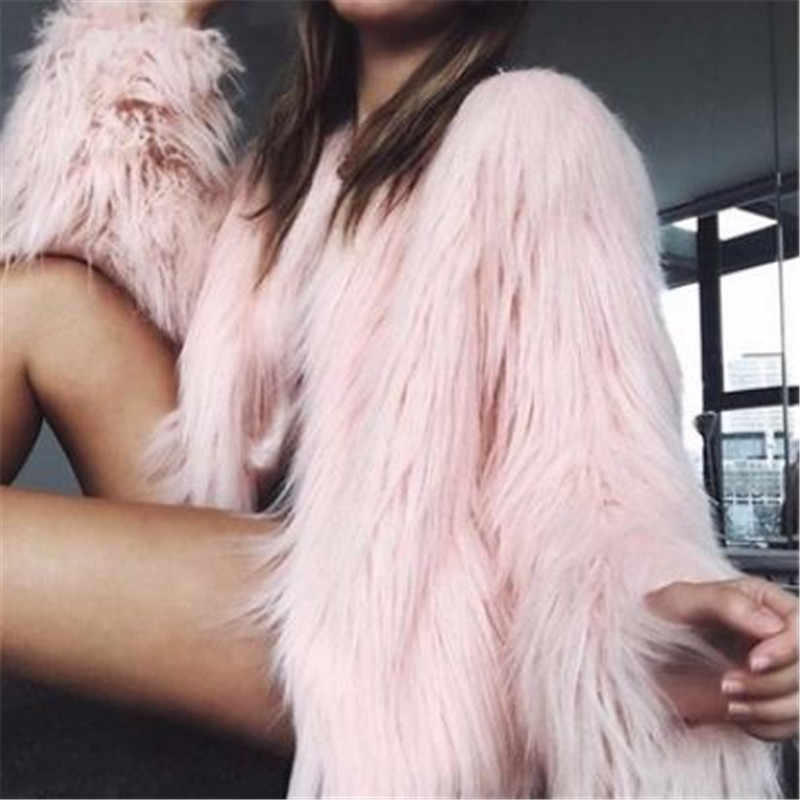 European and American Imitation Fur Coat Jacket Women's Clothes Imitation Fur Long Hair Short Fashion Trend Jacket Spring Coat