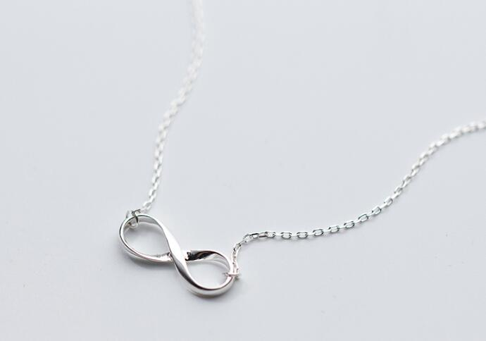 Classic 100% Real. 925 Sterling Silver Fine Jewelry Polished Knot Infinity eternal Love Necklace Pendant Promised Love GTLX1510Classic 100% Real. 925 Sterling Silver Fine Jewelry Polished Knot Infinity eternal Love Necklace Pendant Promised Love GTLX1510