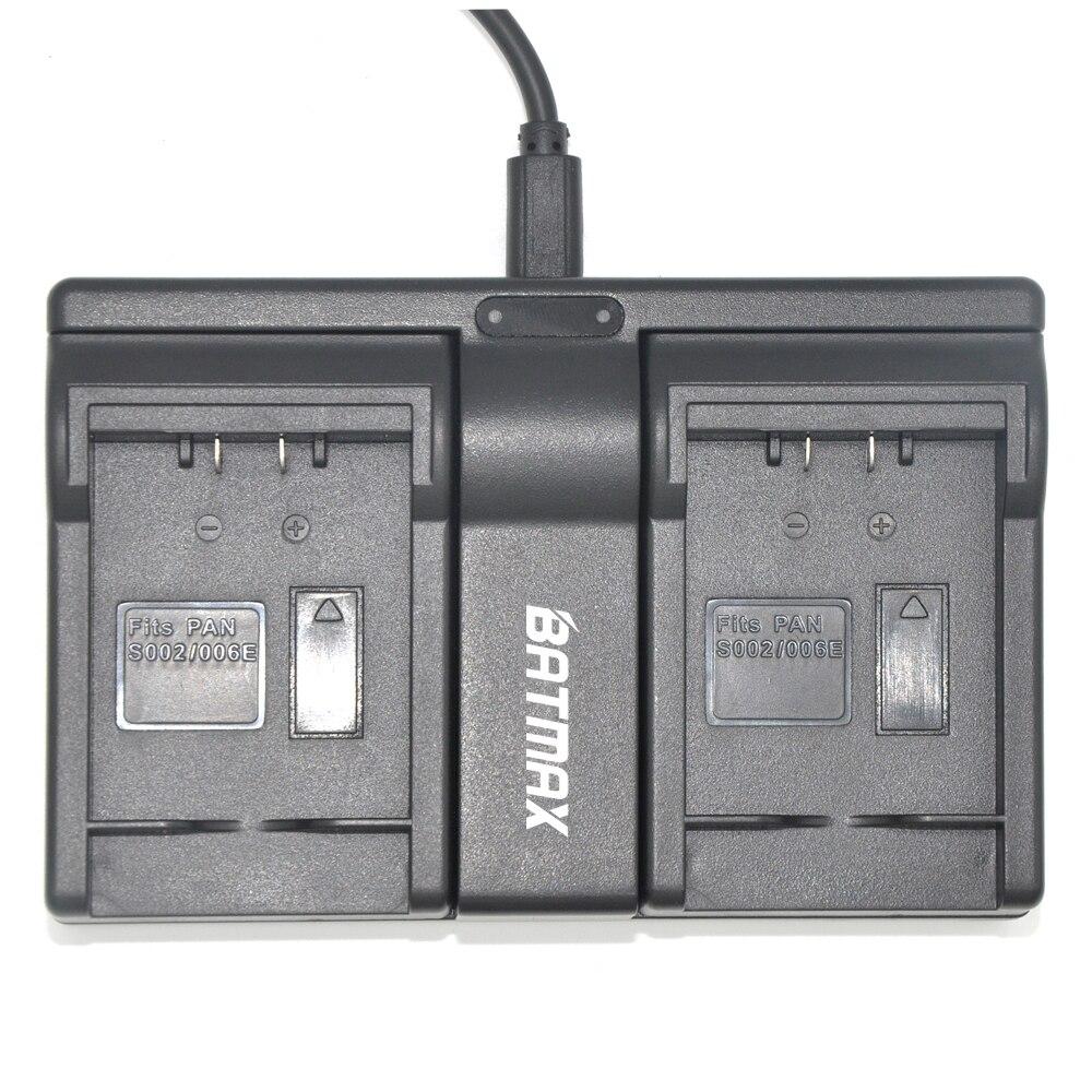 CGA-S006 CGR CGA S006E S006 S006A DMW-BMA7 DMW BMA7 Dual USB Charger for Panasonic DMC FZ7 FZ8 FZ18 FZ28 FZ30 FZ35 FZ38 FZ50