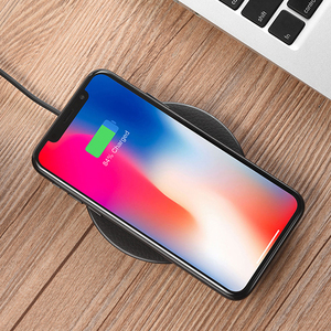 Image 5 - HOCO Wireless Charger for iPhone X XR Xs 8 Qi Wireless Charging Pad for Samsung S9 S8 Plus Xiaomi Mi 9 USB Mobile Phone Charger