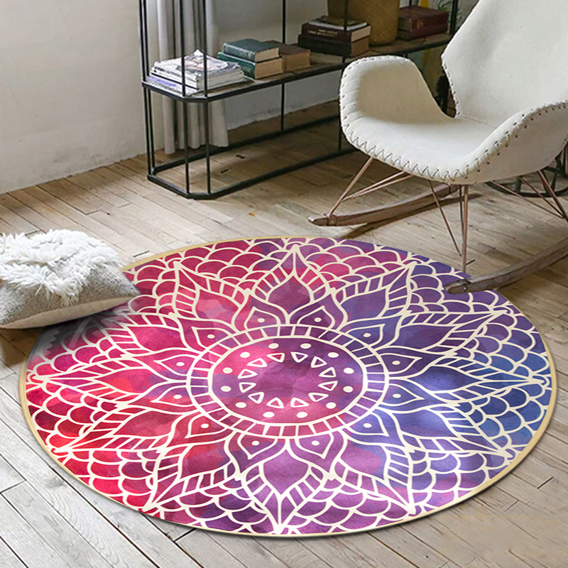 Cilected New Arrivals Pink Mandala Carpet Throw Round Carpet Plaid ...