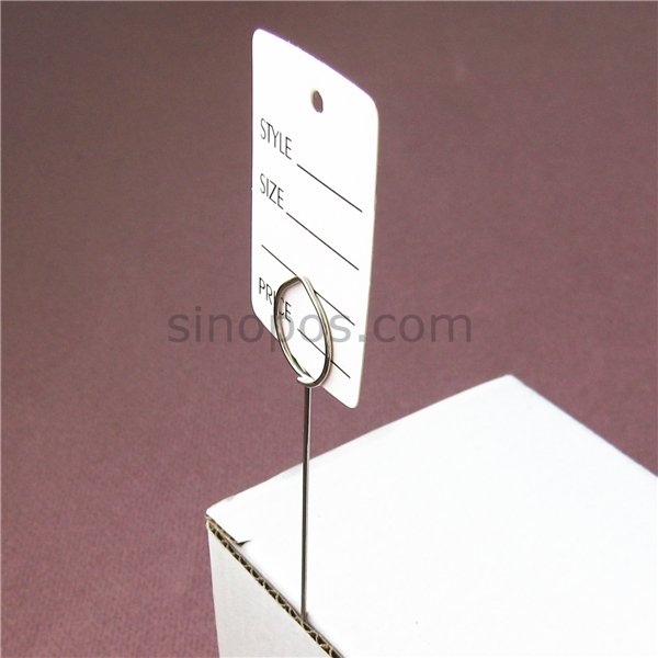 Pack of 30 Deli Pin Ticket Ring Card Holders
