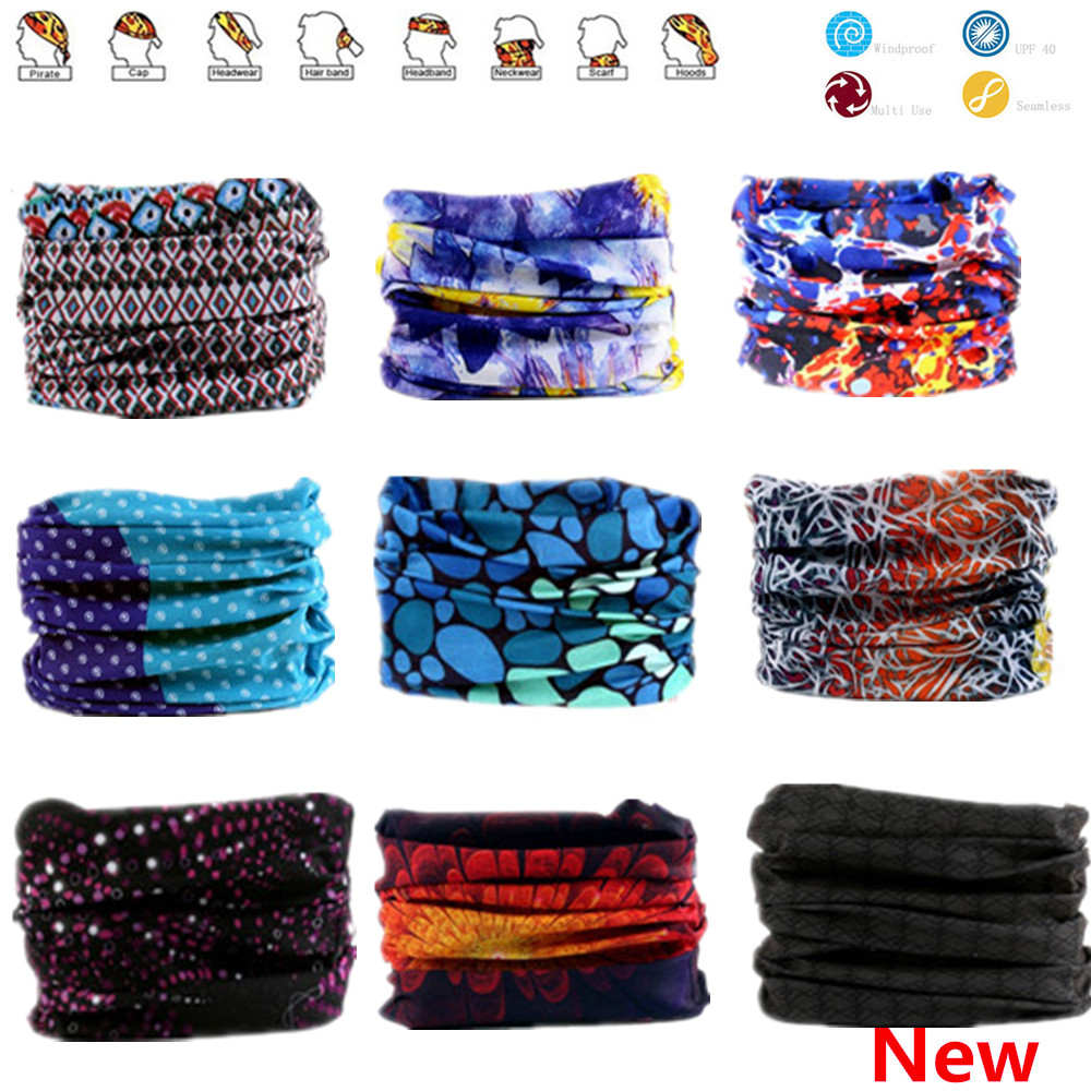 911-960 Multi-color Seamless Bandanas Headwear Scarf Magic Headband Face Mask Tubular Wrap Bicycle Headscarf Frauen Schal
