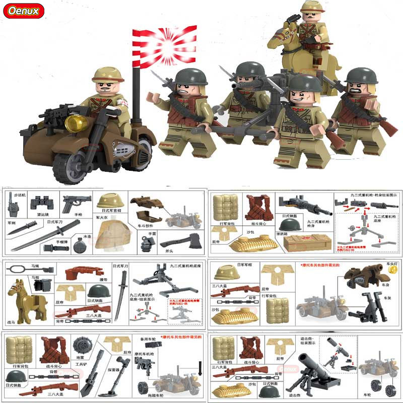 New Arrival World War II The Battle Of Taierzhuang Military Building Brick WW2 Chinese Japanese Army Figures Building Block Toy rollercoasters the war of the worlds