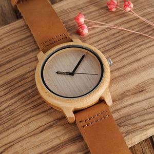 Image 5 - Bobo Vogel Bamboe Houten Horloges Mannen Japan Quartz Horloge Voor Mannelijke Graveren Pointer Logo Laser Aangepaste Dropshipping