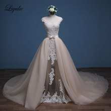 Liyuke Mermaid Wedding Dresses 1 Floor-Length Bride Dress