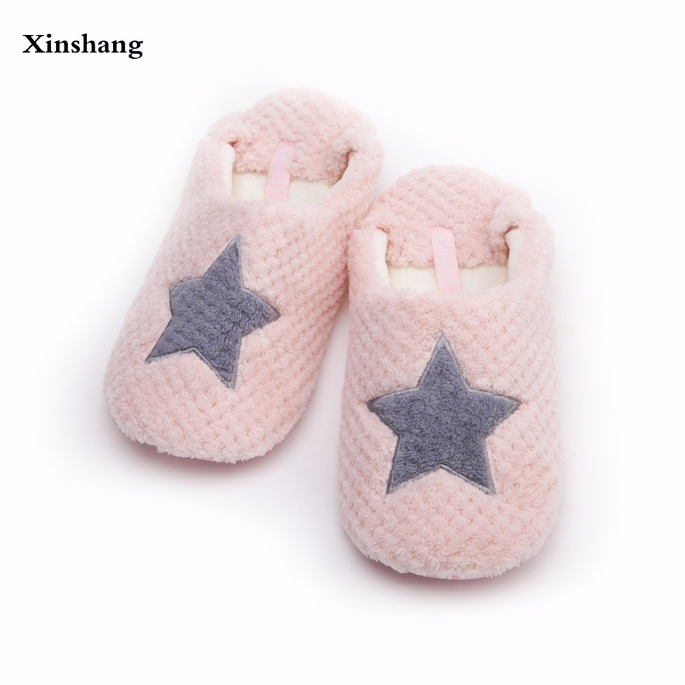 9b2c65c9a7cc7 Women Home Slippers Warm Winter Cute Indoor House Shoes Bedroom Room For Guests  Adults Girls Ladies Pink Soft Bottom Flats-in Slippers from Shoes on ...