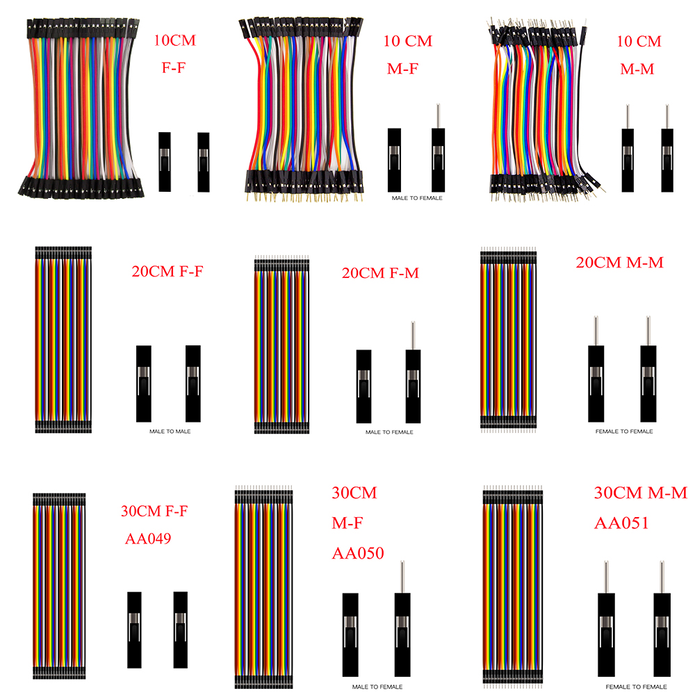 Dupont Line 10cm/20CM/30CM Male To Male / Female To Male Or Female To Female Jumper Wire Dupont Cable For Arduino DIY KIT