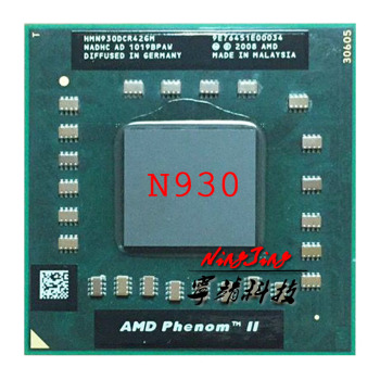 AMD Phenom II Quad-Core Mobile N930 2.0 GHz Quad-Core Quad-Thread CPU Processor HMN930DCR42GM Socket S1 1