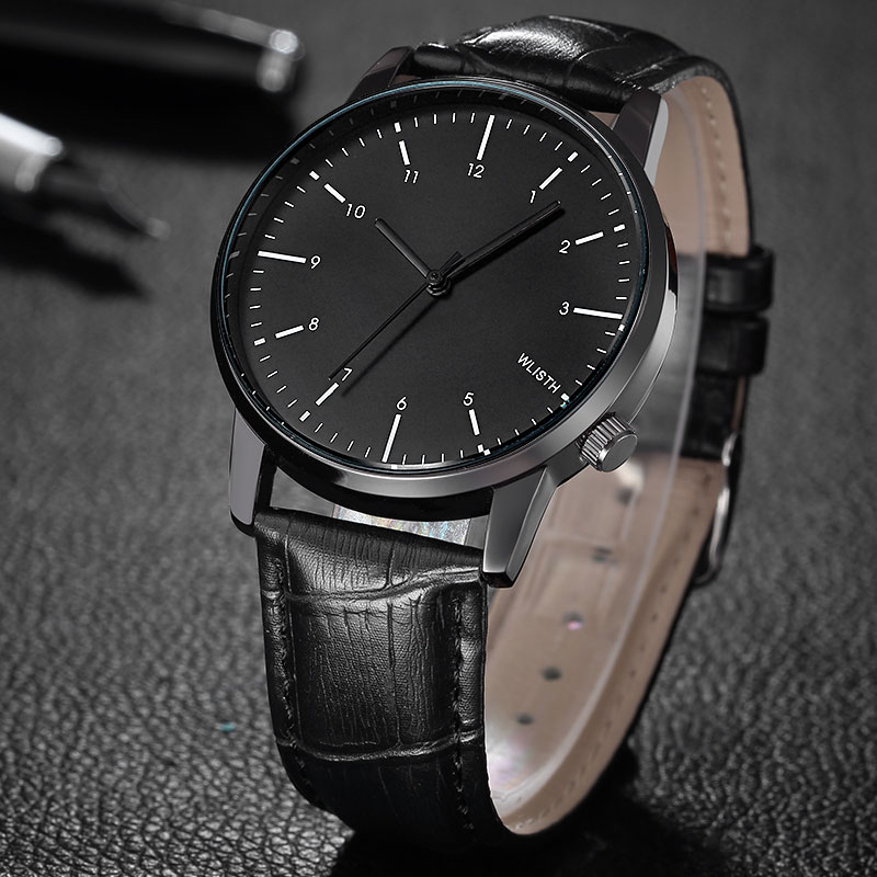WLISTH Watch Men Minimalist Simple Luxury Leather Strap Quartz Business Fashion Brand Casual Watches Relogio Masculino hodinky