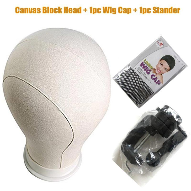 Mannequin Head Canvas Block Head For Hair Extensions Lace Wigs Making And Display Styling Mannequin Manikin Head 21/22/23/24 ...