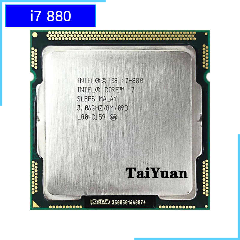 Intel Core I7-880 I7 880 3.0 GHz Quad-Core CPU Processor 8 M 95 W LGA 1156