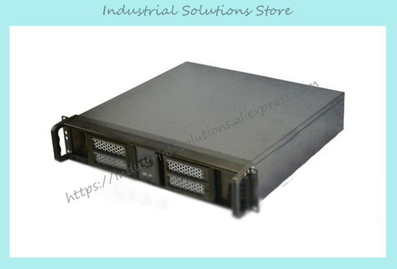 New Quality Aluminum Door Double Open 2U Industrial Computer Case Server Computer Case 2U Computer Case Short Computer Case