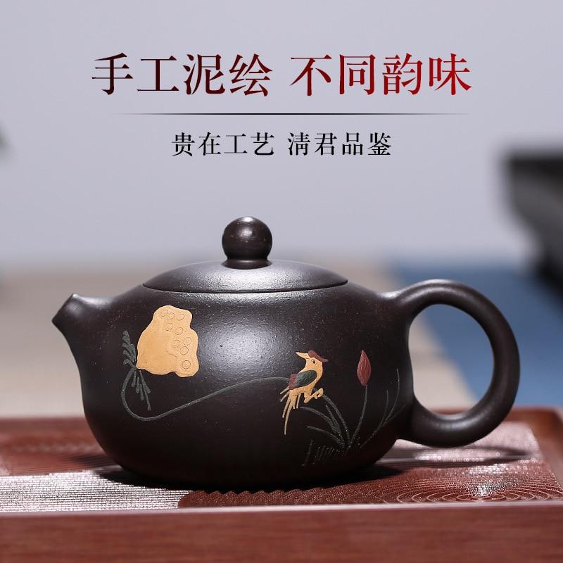 Необработанная руда kingbox кунг фу чай вкусы xi shi маленький чайник смешанная партия ручной цветной рисунок или узор