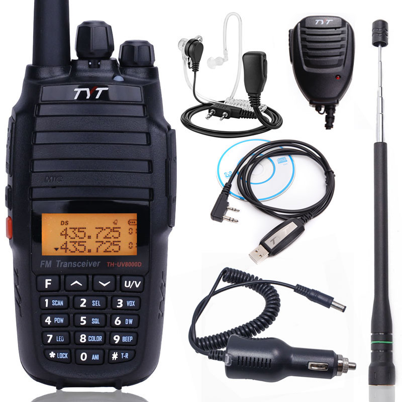Upgrade Version TYT TH UV8000D cross band 10Watts walkie talkie 3600mAh battery VHF UHF Dual band