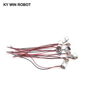Image 3 - 10 adet/grup 9x7mm 9767 MIC Kapsül elektret kondensör mikrofon Ile Tel Uzunluğu 9.5 CM