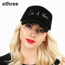 Xthree new mesh baseball cap summer girl snapback hat for women men gorra bone casual casquette 5 panels Adjustable