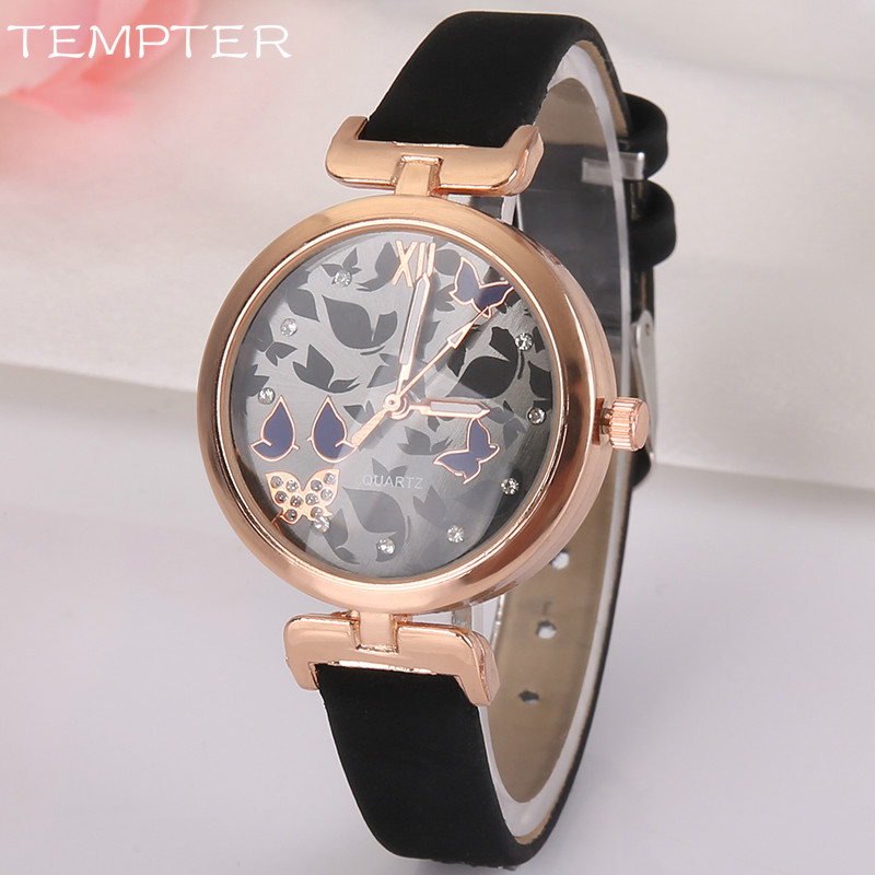 TEMPTER Female Wristwatch 2017 Wrist Watch Women Ladies Brand Famous Clock Quartz Watch For Girls Montre Femme Relogio Feminino rigardu fashion female wrist watch lovers gift silicone band creative wristwatch women ladies quartz watch relogio feminino 25