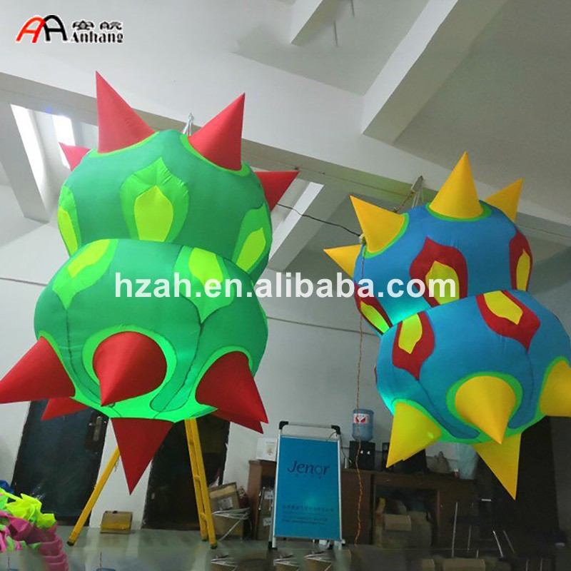 Giant LED Inflatable Air Star Balloon For Party Decoration