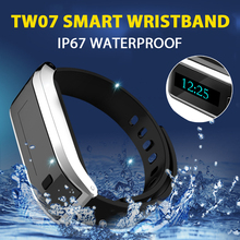 Smart Band TW07 Wristband Bluetooth 4.0 Waterproof Sport Fitness Bracelet Smartband OLED Display Pedometer Call Message Reminder