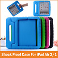 Novo à prova de choque queda smart cover para apple ipad air 2 casos de crianças dos miúdos eva seguro silicon para ipad air2 1 protetora casos