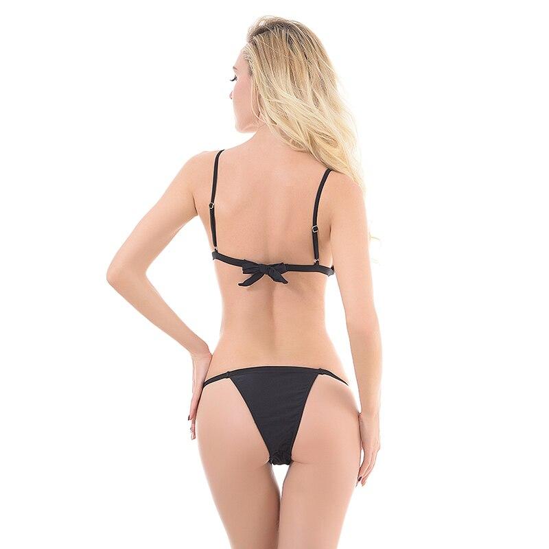 Women Sexy Two Pieces Brazilian Biquinis Swimwear Womens Swimsuit Bathing Suit Shoulder Straps Padded Bikini Set Maillot De Bain