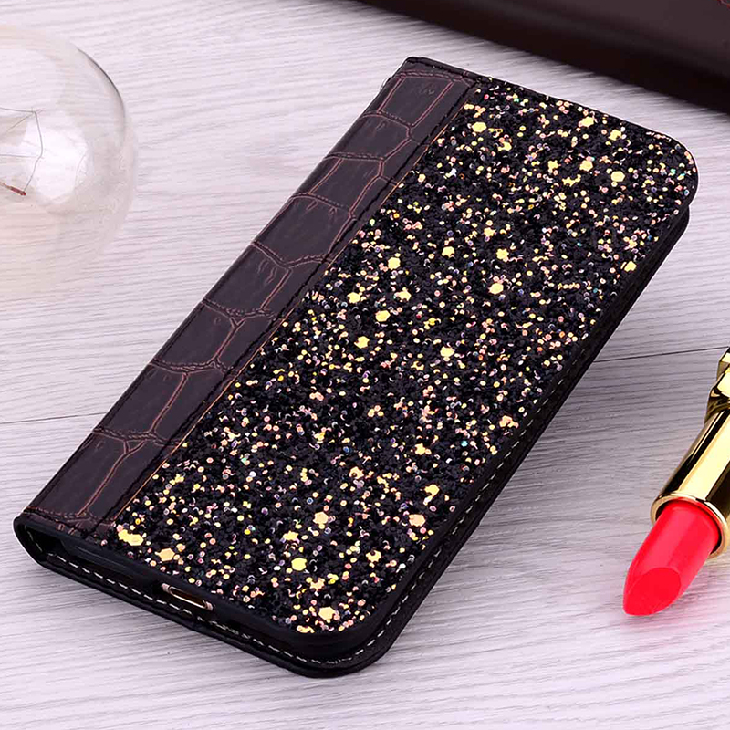 Glitter Case for Sony Xperia XA2 Crocodile Leather Flip Cover Case for Coque Sony Xperia XA2 H3113 H3123 H3133 H4113 H4133 Funda