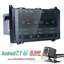 2 Din Auto Radio CarDVD GPS Steuergerät für Mercedes Benz B200 Eine B Klasse W169 W245 Viano Vito W639 Sprinter W906 BT FM/AM SWC 2 GRAMM