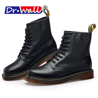 Mens Winter Boots Warm Martin Boots Round Toe Lase up Ankle Boots Ladies Leather Combat Booties Fashion Martens Boots For Women