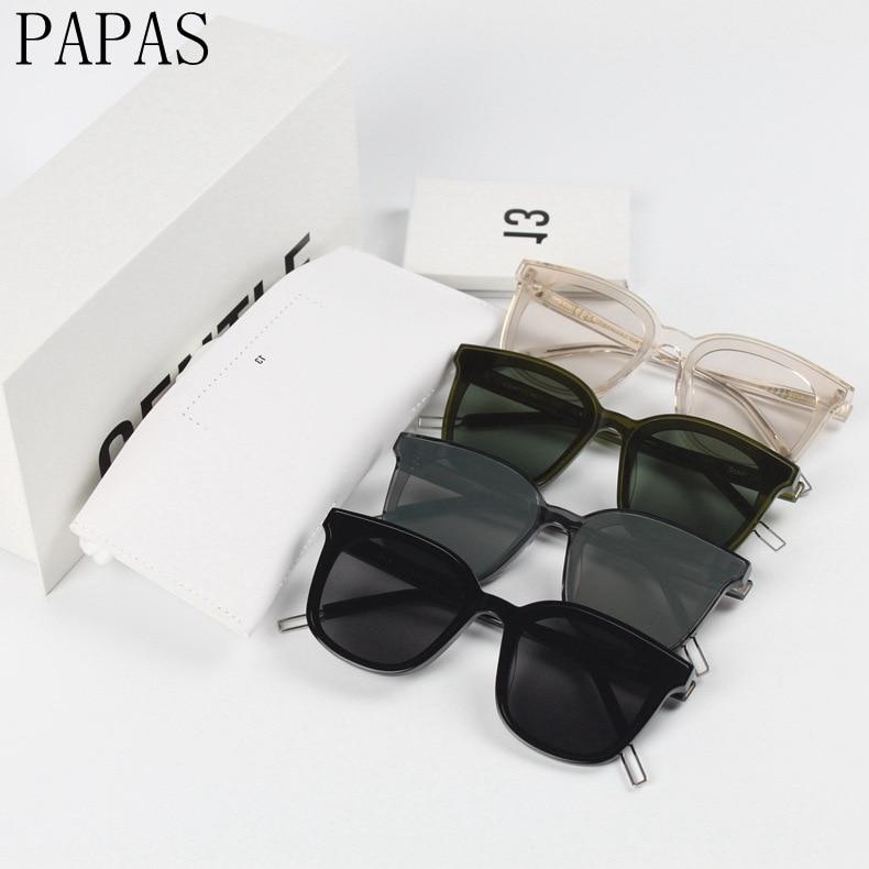 2019 New Fashion Luxury Brand Gentle Flat Lenses Top Coating Sunglasses Women Acetete Big Frame Square Men Sunglasses UV400