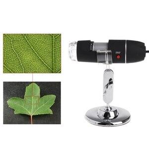 Image 4 - 8LED 1600x USB dijital mikroskop elektronik mercek ışığı biyolojik büyüteç endoskop kamera Video standı