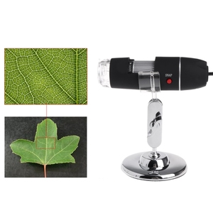 Image 4 - 8LED 1600x USB مجهر رقمي عدسة إلكترونية ضوء المكبر البيولوجي المنظار كاميرا فيديو حامل