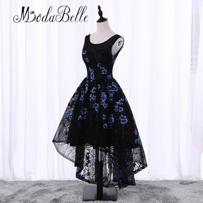 modabelle Floral Short Cheap Homecoming Dresses 2017 Black