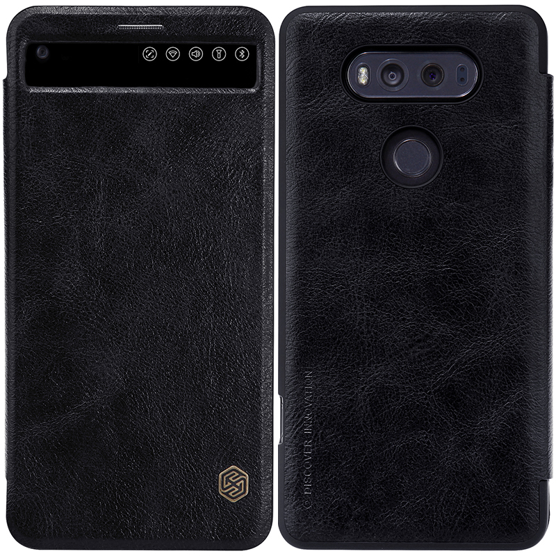 US $9 89  Nillkin Qin Luxury Flip Cover For LG V20 Window View Fashion  Leather Case For LG V20 H990DS H990N H918 Protective Case-in Phone Pouches  from