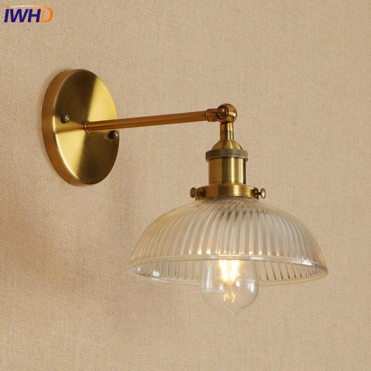IWHD Glass Edison LED Wall Lamp Iron Adjustable Loft Style Wandlamp Retro Bathroom Light ...