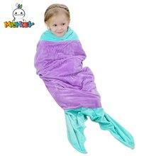 MICHLEY/Милая зимняя одежда для сна с животными для девочек; фланелевый флисовый детский спальный мешок с красивой рыбкой; 100 качество; одеяло; спальное место; JY0249