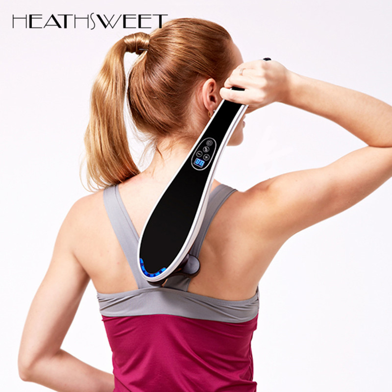 Healthsweet Body Massager Dolphin Electric Cervical Vertebra Massage Device Chinese Massage Hammer Stick Back Relax Instrument pestilently gym hammer stick massage hammer massage device